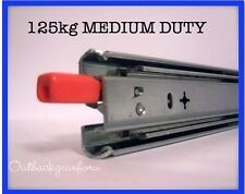 750MM  125kg LOCKING DRAWER SLIDE FRIDGE RUNNERS 4X4 CAMPERS, TRAILERS, VANS,
