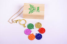 ZELDA Ocarina of Time Medallion NECKLACE PENDANT KEYCHAIN collection SET+BOX 6PC