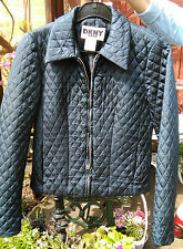 Donna Karan New York DKNY Jeans Cropped Navy Quilted Jacket Size USA 2 for Teen