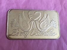 Be My Valentine Gift Present 1 Troy Ounce .999 Fine Silver St Valentines Day Bar