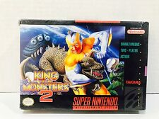 King of the Monsters 2 (SNES Super Nintendo) NEW SEALED NEAR-EXCELLENT RARE!
