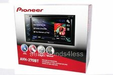 "NEW Pioneer Double 2 Din AVH-270BT DVD/MP3/CD Player 6.2"" Touchscreen Bluetooth"
