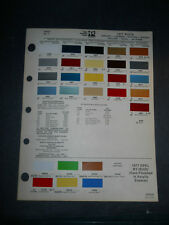 1976 BUICK DIZLER PPG COLOR CHIP PAINT SAMPLES CENTURY LESABRE RIVIERA SKYLARK