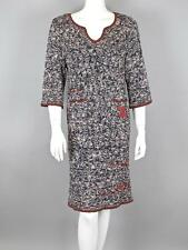 Chanel Blue and Orange Knit Dress with CC Pockets Below Knee Size 42 76-716