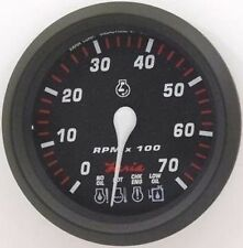 Faria Professional Red Gauge Tachometer with SystemCheck Indicator 34650 MD