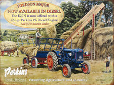 LARGE FORDSON MAJOR PERKINS TRACTOR DIESEL ENGINE METAL WALL PLAQUE TIN SIGN 318