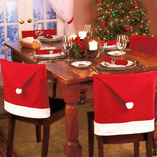 65X50cm Santa Claus Red Hat Chair Back Cover For Christmas Dinner Table Decor