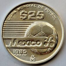 25 Pesos, 1985, FIFA World Cup 1986 in Mexico, Silver coin
