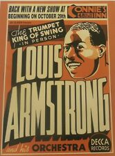 THE LOUIS ARMSTRONG HIS ORCHESTRA VINTAGE JAZZ 18X24 MUSIC POSTER