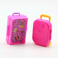 Fashion Doll Accessories pink Suitcase trunk for Barbie doll