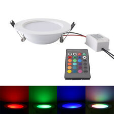 5W IR Remote Wireless Color Changing RGB LED Recessed Ceiling Panel Downlight