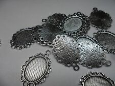10 x 18x13mm tray Antique Silver Pendant settings,bases,bezels,30x20mm, crafting