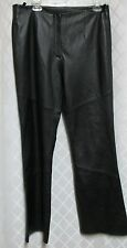Leather Pants Woman's Limited Black Soft Zip Front Boot Cut Size 14 Waist 34