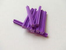 5pz bastoncini Fimo nail art unghie stick  5x0.5cm  decorazione stella viola