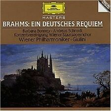 BARBARA BONNEY/CARLO MARIA GIULINI/WP/+ - EIN DEUTSCHES REQUIEM  CD BRAHMS NEW+