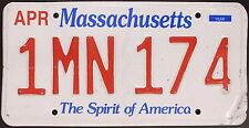 Original Nummernschild USA Massachusetts 2013 plaque d'immatriculation TARGA
