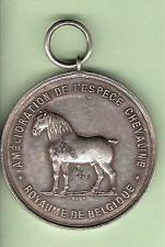 MEDAILLE ARGENT RACES CHEVALINES BELGIQUE 1892  CHEVAL SILVER MEDAL HORSE