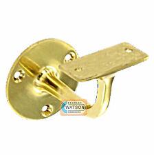 "63mm 2.1/2"" BRASS HANDRAIL Bracket Staircase Banister Disability Support"
