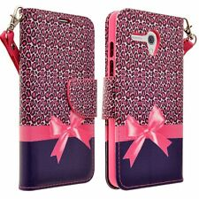 For Alcatel OneTouch Fierce XL Hybrid PU Leather Wallet Pouch Case Flip Cover