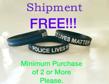 Blue Line Bracelet Police lives Matter Silicone Police Support Wristband TRE