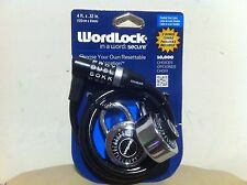 WORDLOCK In a Word Secure Combination Bike Bicycle Lock 4FT W/ 2 Extra Locks