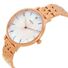 FOSSIL INCANDESA SILVER DIAL DIAMOND ROSE GOLD ST.STEEL LADIES WATCH ES3860 NEW