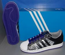 MENS ADIDAS SUPERSTAR 2 CB in colors BLACK / BLACK / BLA PURPLE SIZE 12
