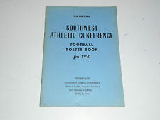 1950 SWC SOUTHWEST ATHLETIC CONFERENCE 1ST ANNUAL COLLEGE FOOTBALL GUIDE