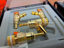 4x Furutech FP-202(G) Speaker Cable Gold Plated Banana Plug