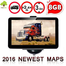 "New 7"" TOM Navigation Truck Lorry  TOM SAT NAV GPS Speedcam FM Free Maps 8GB"