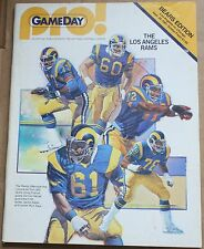 1981 Chicago Bears Los Angeles Rams Program Slater Harrah Cover
