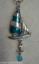 Sailboat Sail Boat anchor sailing NAUTICAL Car Charm Rear View Mirror Ornament g