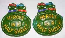 (2) 1989 Teenage Mutant Ninja Turtles Heroes In A Half Shell Burger King Promo