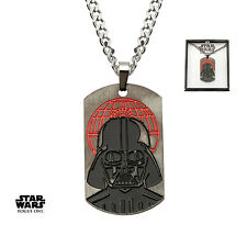 STAR WARS ROGUE ONE: DARTH VADER DEATH STAR DOG TAG PENDANT ON CHAIN NECKLACE