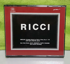 RICCI Sibelius Complete Works for Violin & Piano, Op. 2-116 Solo Violin Works CD