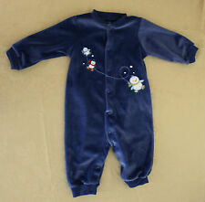 Child of Mine by Carters, Large, Blue Velour Penguins Sleeper