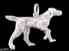 Pointer Dog charm Sterling silver 925 charmmakers 3D