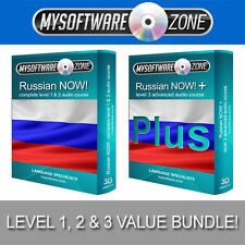Learn to Speak Russian Language Fluently Value Pack Course Bundle Level 1, 2 & 3
