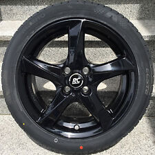 Brock RC30 16´´ black Smart Fortwo forfour 453 Alloy wheels Normal tyre Conti