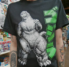 GODZILLA T-SHIRT SIZE XL  DEAD STOCK DRAWN BY ART ADAMS COOL! EXTRA LARGE