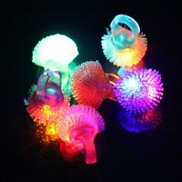 Xmas Party Light Up LED Ring Flashing Jelly Rainbow Crown Star For Celebration