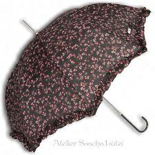 Clayre & Eef eleganter Schirm Regenschirm schwarz mit kleinen Rosen Ø 95cm NEU