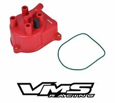 VMS RACING RED OE STYLE DISTRIBUTOR CAP FOR 92-97 HONDA ACCORD 2.0L 2.2L