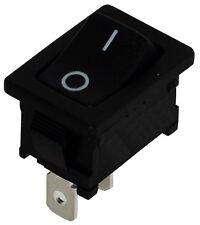 Interrupteur commutateur contacteur bouton à bascule noir SPST OFF-(ON) 10A/250V