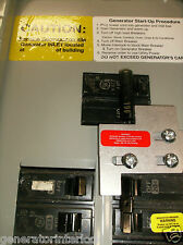 GE-100A General Electric GE Generator interlock kit 100 or 125 Amp Panel LISTED