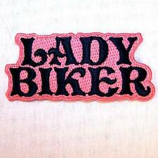 LADY BIKER EMBROIDERED PATCH P378 iron on sew bikers JACKET patches WOMEN NEW