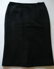 MARKS & SPENCER CLASSIC BLACK WARM WOOL MIX PENCIL OFFICE SKIRT size 12