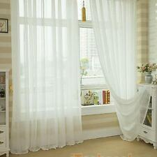 Voile Window Curtain Panel Solid Balcony Room Drapes Sheer Treatment 12 Colors