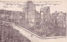 CPA GUERRE 14-18 WW1 NORD LILLE ruines du vieux marché-aux-moutons écrite 1919