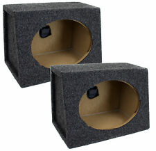 "2) NEW Q-POWER QTW6X9 Angled Style 6""x9"" Car Audio Speaker Box Enclosures PAIR"
